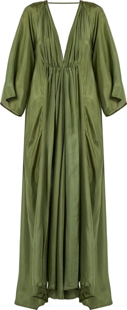 Kalita Clemence deep V-neck silk gown
