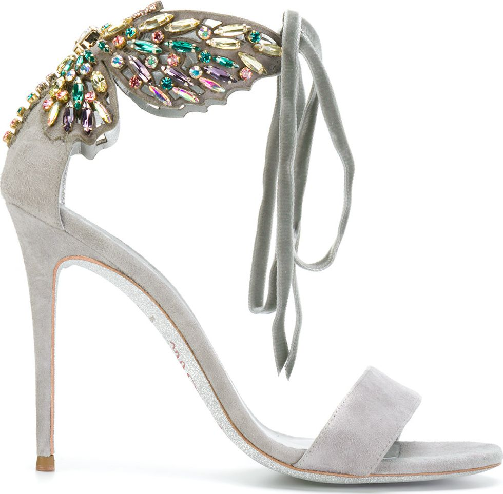 Rene Caovilla - embellished butterfly heeled sandals