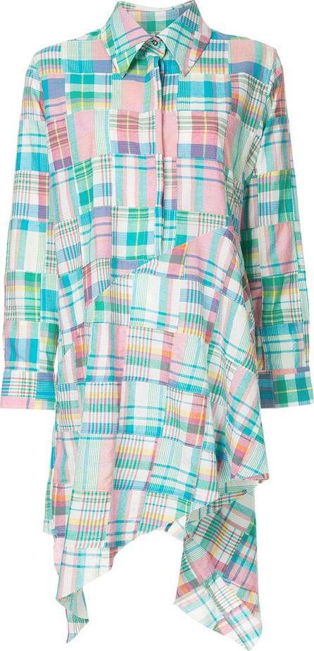 Marques'Almeida Patchwork asymmetrical hem shirt dress