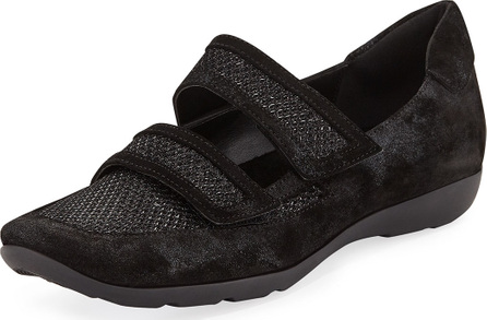 Sesto Meucci Gyan Metallic Suede Strap Sneakers