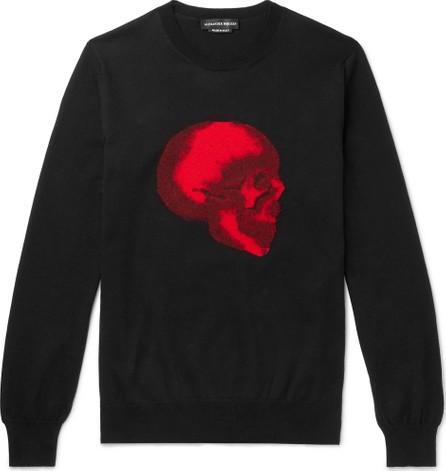 Alexander McQueen Slim-Fit Skull-Intarsia Cotton Sweater