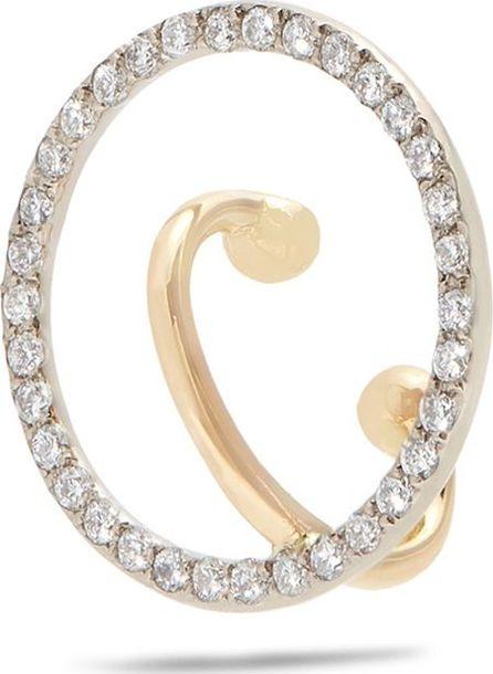 Charlotte Chesnais Celeste diamond & gold single ear cuff