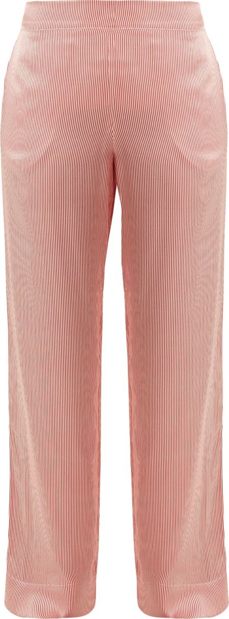 Asceno Striped wide-leg silk pyjama trousers