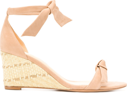 Bow strap wedge sandals