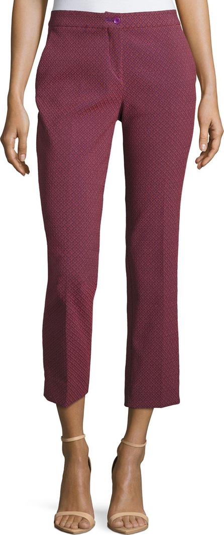 Etro Cropped Jacquard Capri Pants