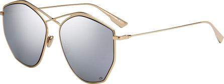 Dior Stell4 Mirrored Crisscross Sunglasses