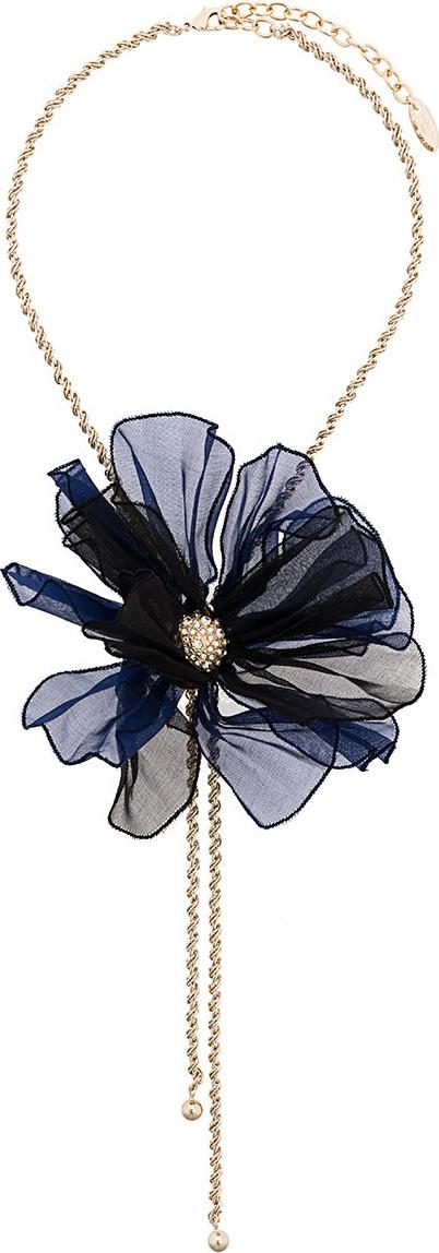 Lanvin Beaded flower necklace