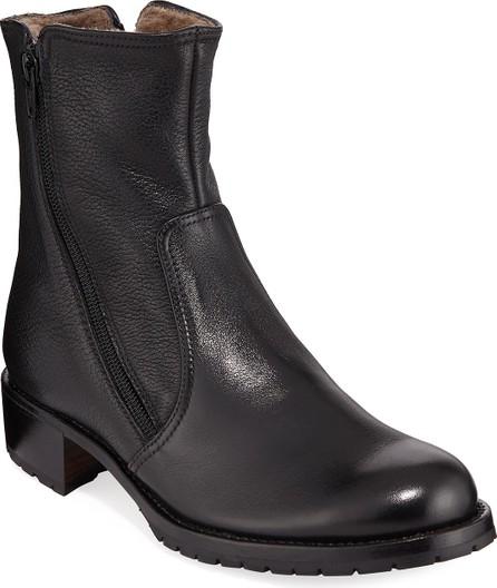 Gravati Two Zipper Leather Booties