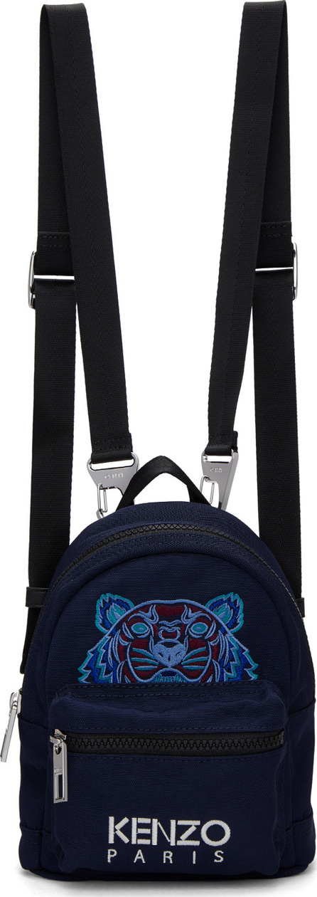 KENZO Navy Mini Tiger Backpack