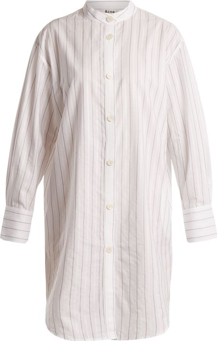 Acne Studios Diede striped cotton shirtdress
