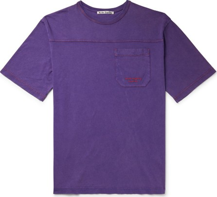 Acne Studios Edwin Logo-Embroidered Acid-Washed Cotton-Jersey T-Shirt