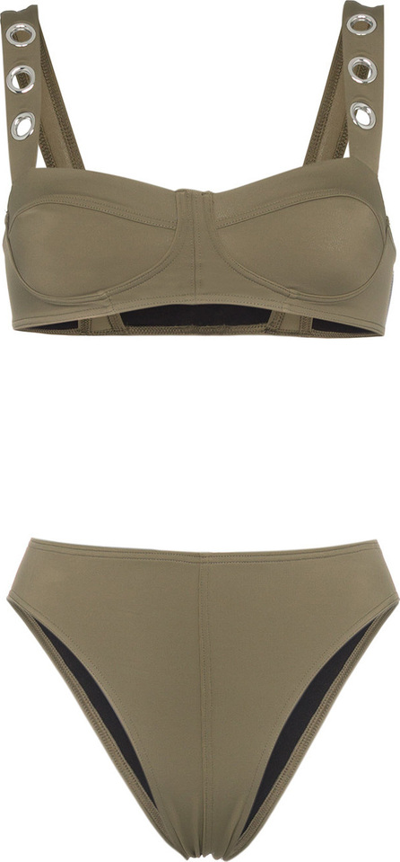 Ack Military green Ana Due high-leg bikini