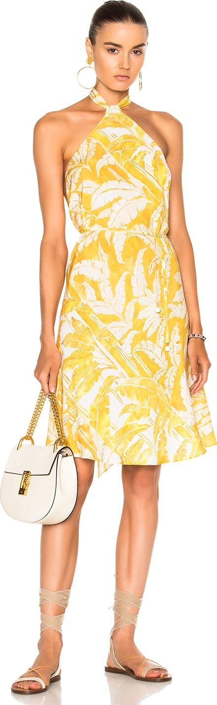 Adriana Degreas for FWRD Flower Halter Dress