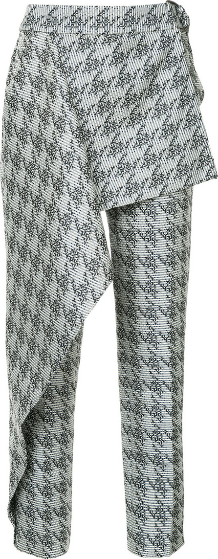 Bianca Spender Houndstooth brocade West End trousers