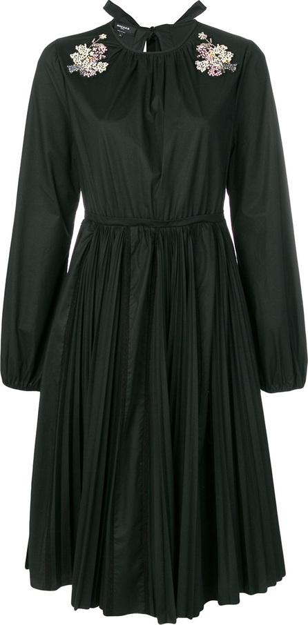 ROCHAS Sequin appliqué pleated dress