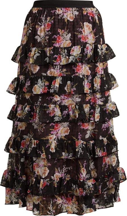 Rebecca Taylor Bouquet tiered silk-blend chiffon skirt