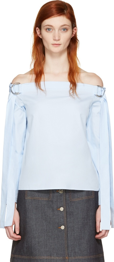 Harmony Blue Tara Off-the-Shoulder Blouse