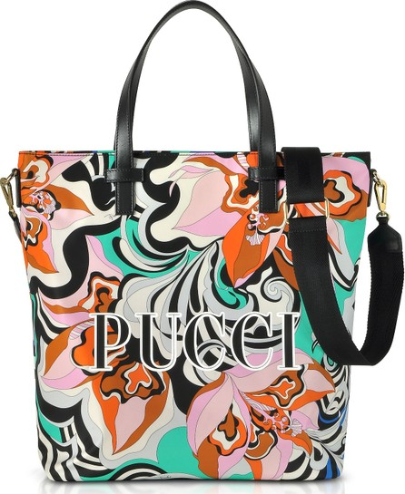 Emilio Pucci Signature Printed Canvas Tote Bag