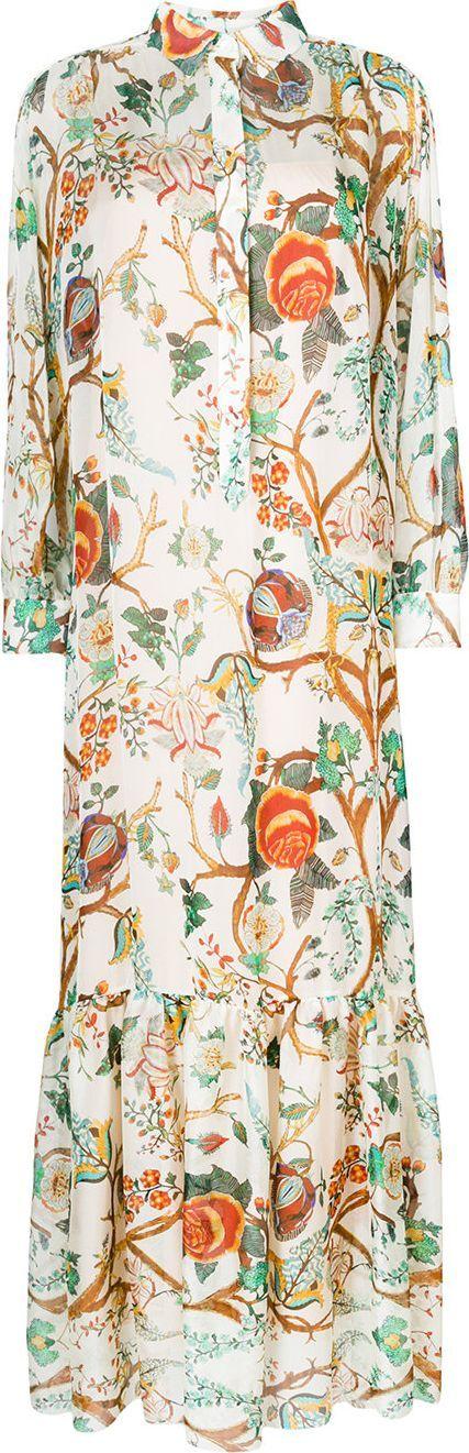 Alberta Ferretti Floral print shirt dress