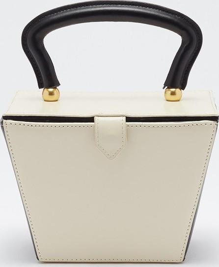 Staud 'Mini Sadie' colourblock leather trapeze bucket bag