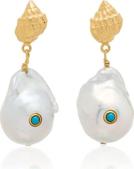 Anni Lu Baroque shell drop earrings