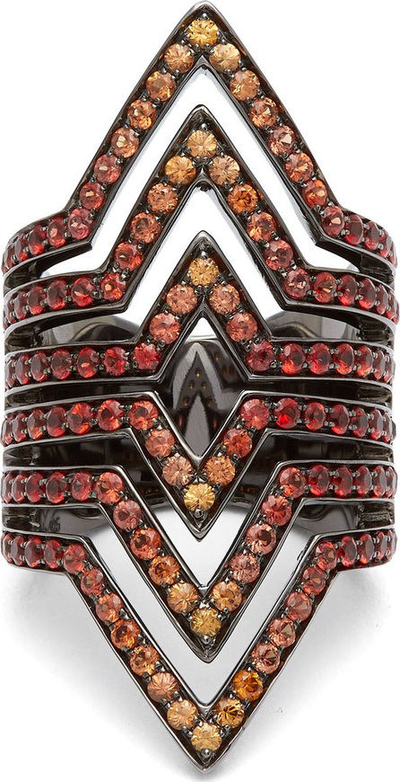 Lynn Ban Vice sapphire & rhodium-plated ring dUsnXWgZ7f