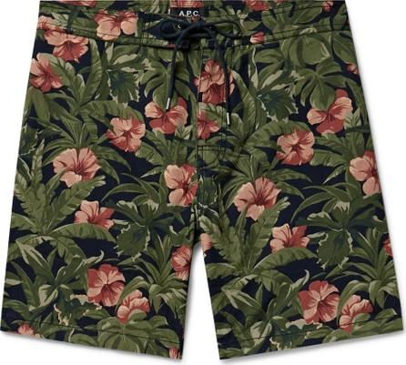 A.P.C. Eli Printed Cotton-Ripstop Drawstring Shorts