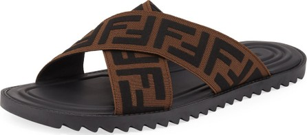 Fendi Men's FF Band Slide Sandals