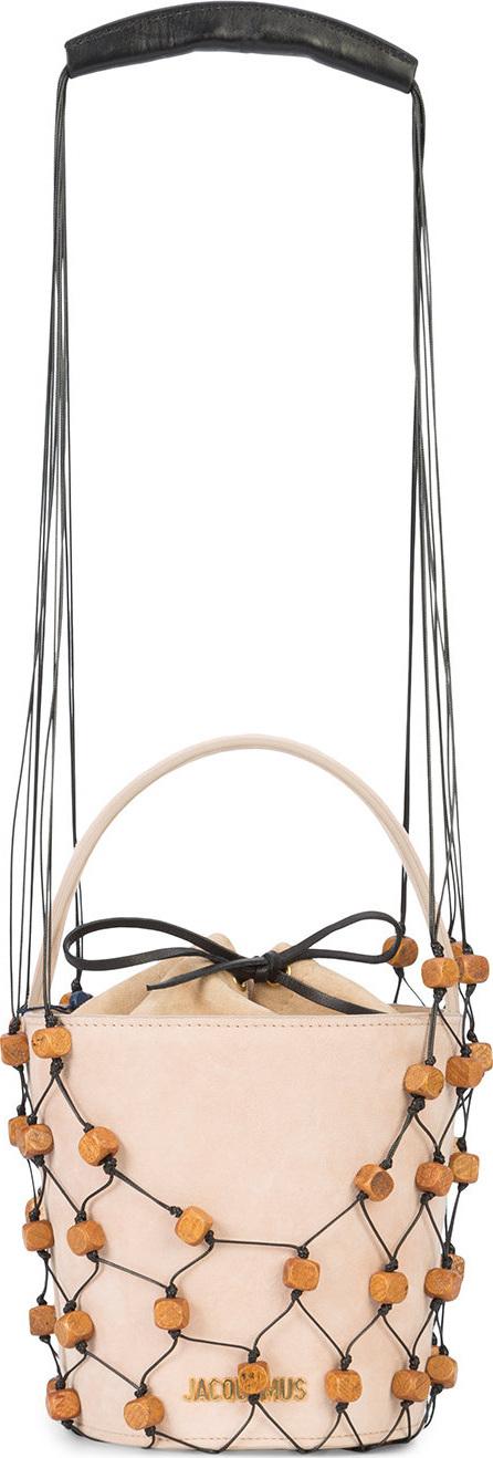 Jacquemus Beaded net trim shoulder bag