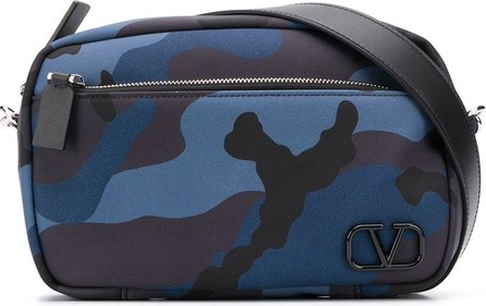 Valentino Valentino Garavani VLOGO camouflage print messenger bag