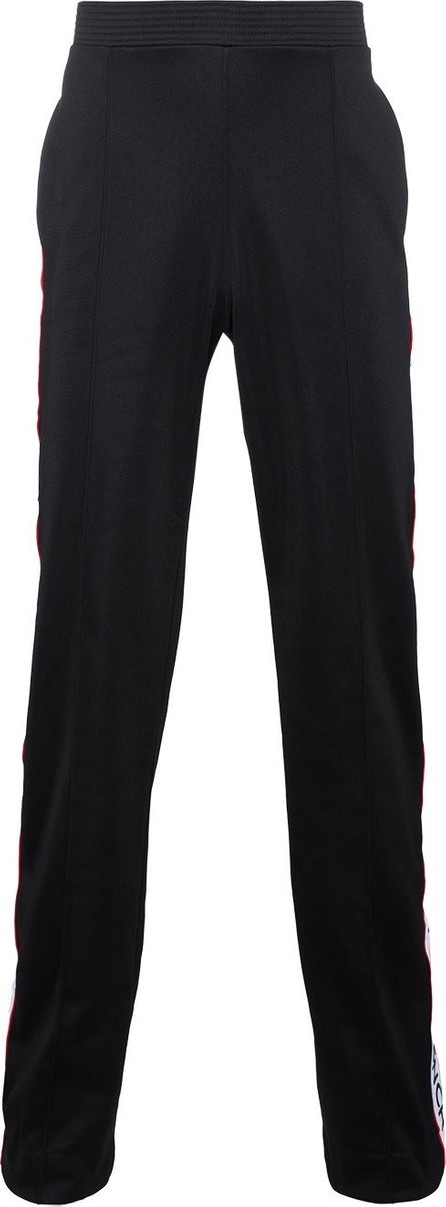 Givenchy Red & white logo stripe track pants