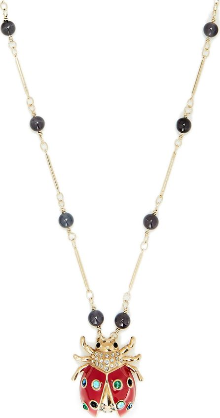 Etro Crystal-embellished ladybird-pendant necklace