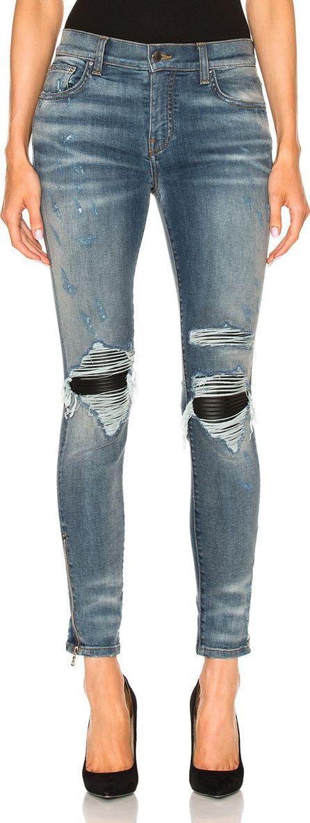Amiri Mx1 Leather Patch Skinny