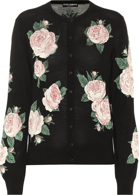 Dolce & Gabbana Wool and silk intarsia cardigan