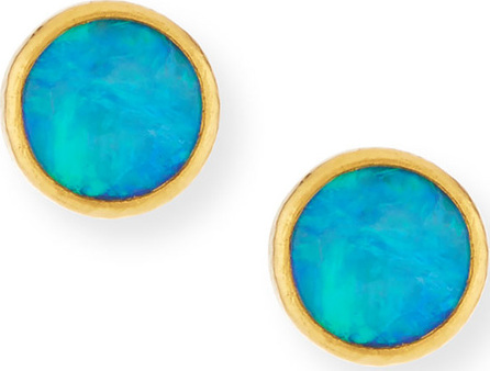 GURHAN 24k Amulet Hue Opal Stud Earrings