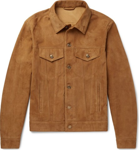 Alanui Slim-Fit Suede Trucker Jacket
