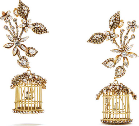 Erickson Beamon 24k Swarovski Crystal Birdcage Earrings