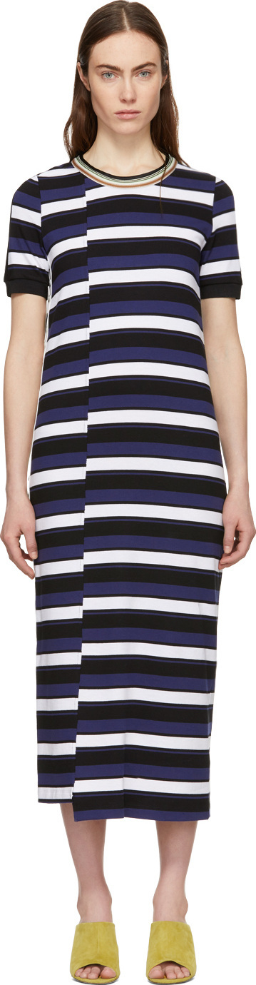 3.1 Phillip Lim Navy Striped Midi Dress