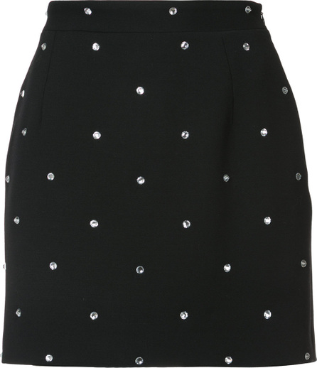 Alessandra Rich Crystal embellished mini skirt