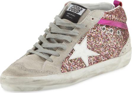 Golden Goose Deluxe Brand Glitter Mid-Top Platform Sneaker