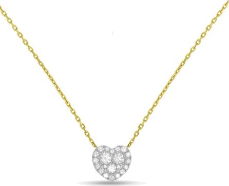 Frederic Sage 18k Gold Firenze II Diamond Heart Pendant Necklace