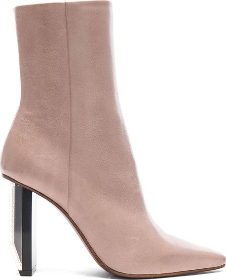 Vetements Reflector Heel Leather Ankle Boots