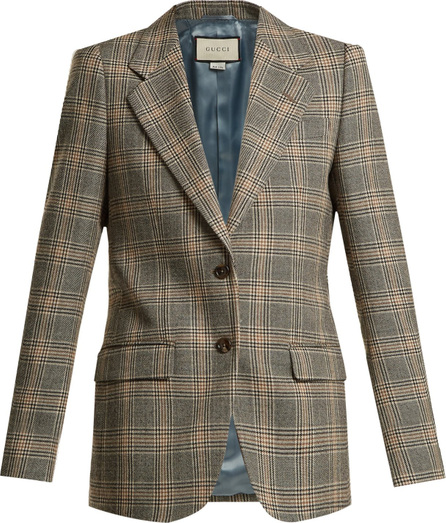 Gucci Prince of Wales-check wool oversized blazer