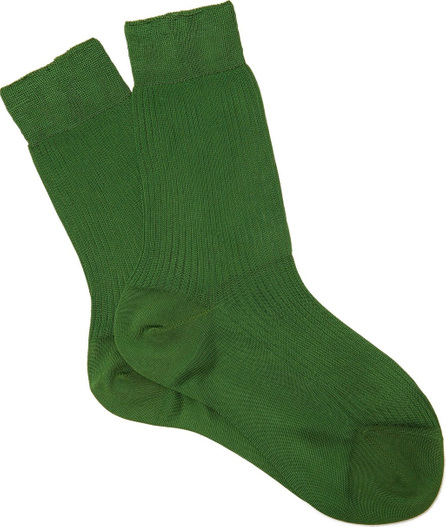 Maria La Rosa Silk mid-calf socks