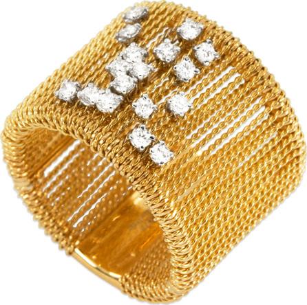 Staurino Fratelli 18k Gold Renaissance Dancing Diamond Ring