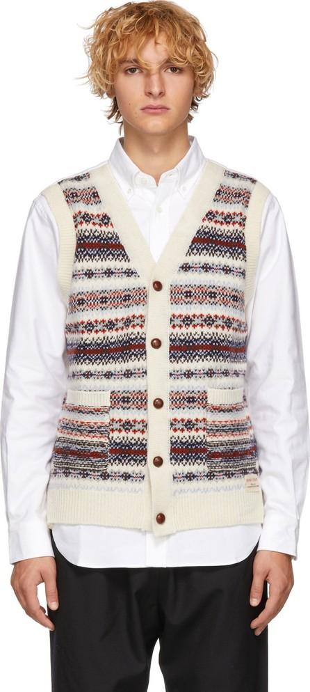 Comme des Garçons Homme White Oxford Wool Knit Shirt