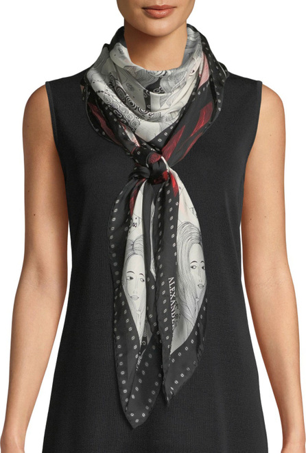 Alexander McQueen Eve Of Harness Silk Satin Scarf