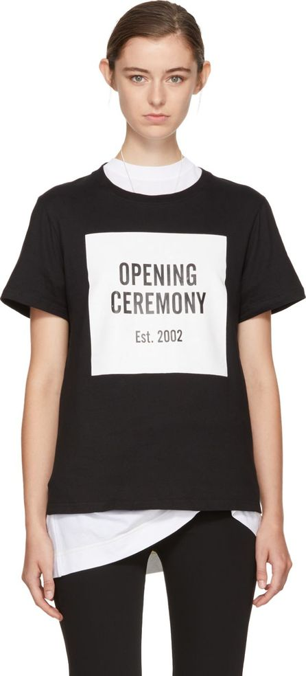 Opening Ceremony Black Logo T-Shirt
