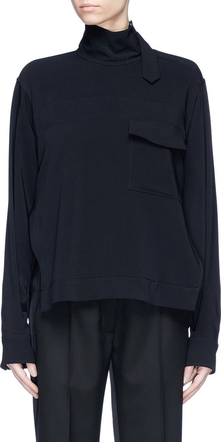 Victoria Beckham Strap high neck chest pocket top