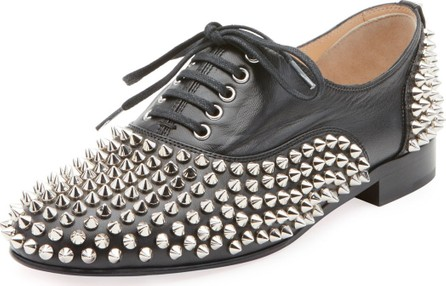 a3083828746 Christian Louboutin Freddy Spikes Red Sole Saddle Oxford Shoes